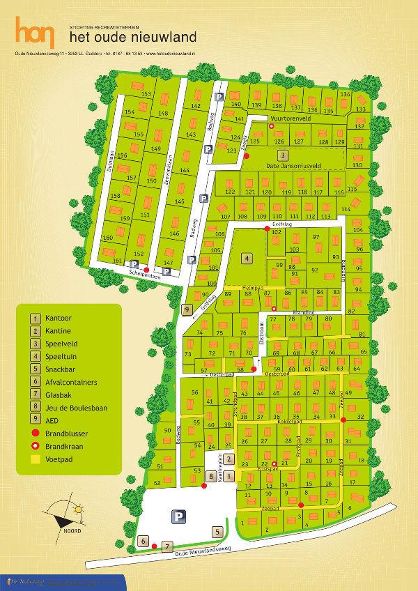 Plattegrond van het bungalowpark